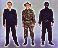 Одежда для охранных структур пошив